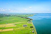 Nederland, Noord-Holland, Gemeente Zeevang, 05-08-2014; Zandbraak, ten zuiden van Warder. Landschap met strokenverkaveling in Polder Zeevang, gelegen tussen Edam en Hoorn aan het Markermeer.<br /> Polder north of Amsterdam<br /> luchtfoto (toeslag op standard tarieven);<br /> aerial photo (additional fee required);<br /> copyright foto/photo Siebe Swart