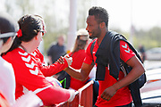 Middlesbrough midfielder Mikel John Obi (2)  arriving at the ground during the EFL Sky Bet Championship match between Middlesbrough and Stoke City at the Riverside Stadium, Middlesbrough, England on 19 April 2019.