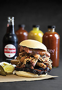 The Smokestack Sandwich from City Butcher and Barbecue located in Springfield, MO. Photo by Brandon Alms Photography