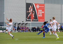 Jade Boho-Sayo of Bristol Academy Women shoots to equalise - Mandatory by-line: Paul Knight/JMP - Mobile: 07966 386802 - 13/09/2015 -  FOOTBALL - Stoke Gifford Stadium - Bristol, England -  Bristol Academy Women v Liverpool Ladies FC - FA WSL Continental Tyres Cup