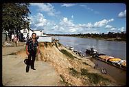 Ery Monteconrado, Eirunepe merchant/land baron, perches @ edge of town's crumbling levee & economy Brazil