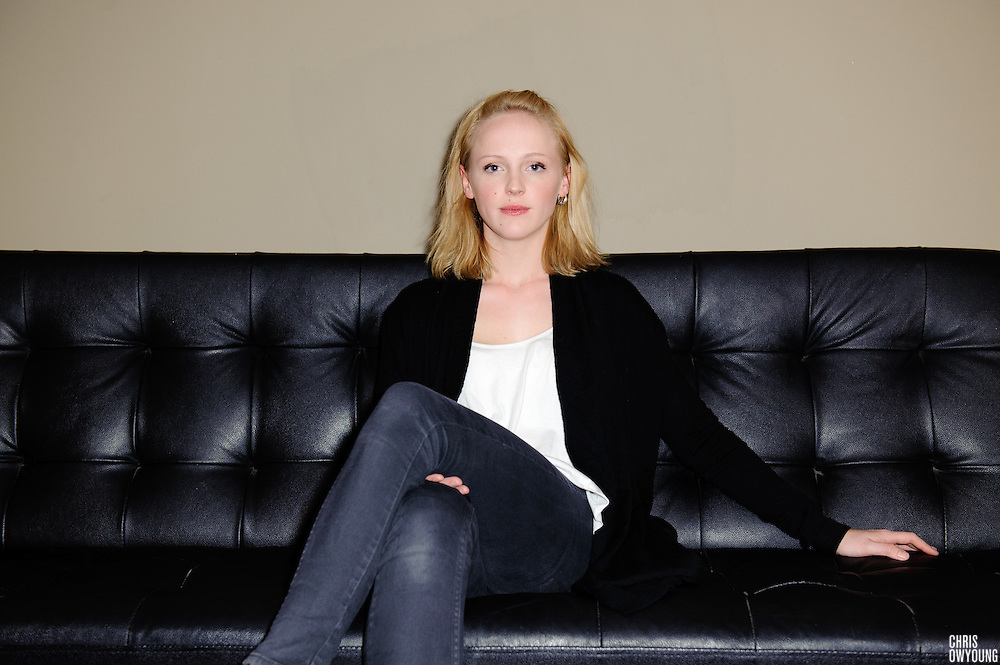 Portrait of Laura Marling backstage before her performance at Music Hall of Williamsburg in Brooklyn, NYC. Thursday, May 13, 2010