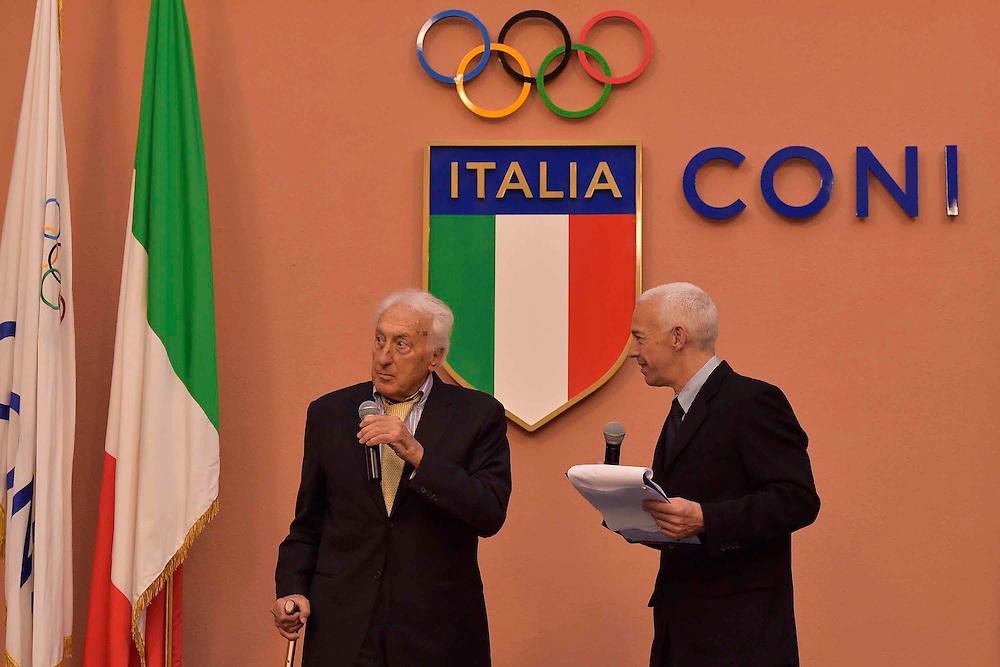 DESCRIZIONE : Roma Basket Day Hall of Fame 2014<br /> GIOCATORE : Alessandro Gamba Ugo Francica Nava<br /> SQUADRA : FIP Federazione Italiana Pallacanestro <br /> EVENTO : Basket Day Hall of Fame 2014<br /> GARA : Roma Basket Day Hall of Fame 2014<br /> DATA : 22/03/2015<br /> CATEGORIA : Premiazione<br /> SPORT : Pallacanestro <br /> AUTORE : Agenzia Ciamillo-Castoria/GiulioCiamillo