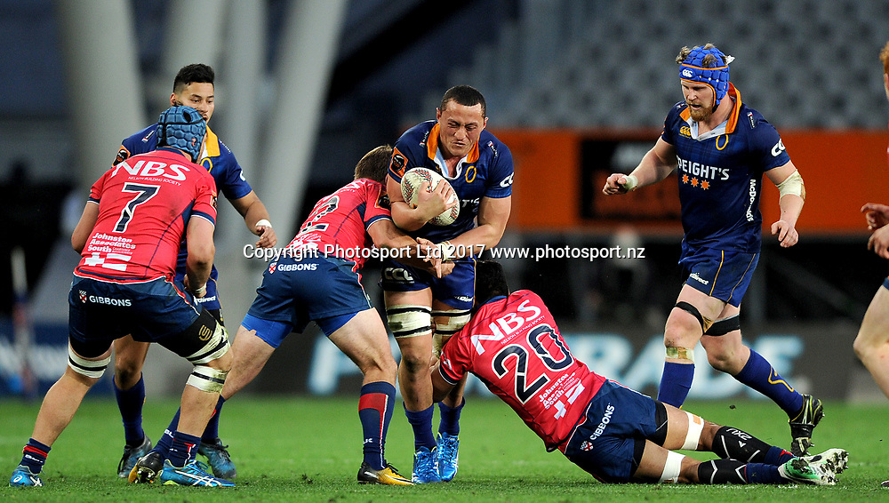 Sione Teu of Otago. Otago v Tasman. Mitre 10 Cup Championship Rugby Union. Forsyth Barr Stadium, Dunedin, New Zealand. 16 September 2017. Copyright Image: Joe Allison / www.photosport.nz
