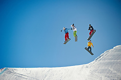 29 JAN 2011: The Boarder X course during the ESPN Winter X Games Fifteen at Buttermilk Mountain in Aspen, Colorado.