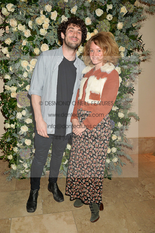 MIKE THOMPSON and SUSSY CAZALET at a private view of the Beulah Winter Autumn Winter collection entitled 'Chrysalis' held at The South Kensington Club, London SW7 on 24th September 2015.