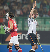 RAIPUR (India) - Moritz Fürste (Dui.) scores . left Adam Froese (Can)    Match for place 7/8 Hockey World League Final  men . GERMANY v CANADA   © WSP / Koen Suyk