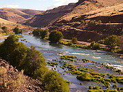 A view of Highway 216 between in the Deschutes River Canyon at Shear's Bridge in Wasco County Oregon