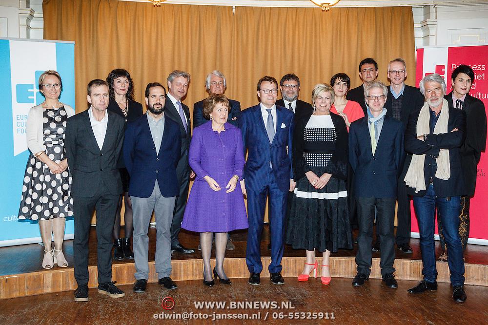 NLD/Amsterdam/20160315 - Uitreiking van de ECF Princess Margriet Award, groepsfoto met laueraten