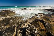 Lanzarote volcanic  Canary Island , Spain on Atlantic Ocean in January Photo Piotr Gesicki beach near Corralejo