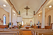 Interior of Saint Léon Church, established in 1894, St. Leon, Manitoba, Canada