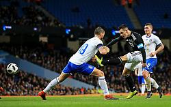 Giovani Lo Celso of Argentina fires a shot at goal - Mandatory by-line: Matt McNulty/JMP - 23/03/2018 - FOOTBALL - Etihad Stadium - Manchester, England - Argentina v Italy - International Friendly