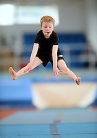 20 Aug 2016: James Rochford, from Clare, performs in the U9 Gymnastics.   2016 Community Games National Festival 2016.  Athlone Institute of Technology, Athlone, Co. Westmeath. Picture: Caroline Quinn