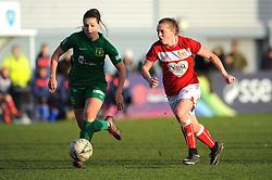 Ellie Mason of Yeovil Town Ladies chases down Lucy Graham of Bristol City - Mandatory by-line: Nizaam Jones/JMP - 27/01/2019 - FOOTBALL - Stoke Gifford Stadium - Bristol, England - Bristol City Women v Yeovil Town Ladies- FA Women's Super League 1