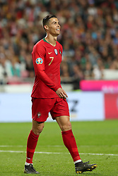 March 22, 2019 - Lisbon, Portugal - Portugal's forward Cristiano Ronaldo reacts during the UEFA EURO 2020 group B qualifying football match Portugal vs Ukraine, at the Luz Stadium in Lisbon, Portugal, on March 22, 2019. (Credit Image: © Pedro Fiuza/ZUMA Wire)