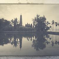 A pagoda at West Lake Hanoi.