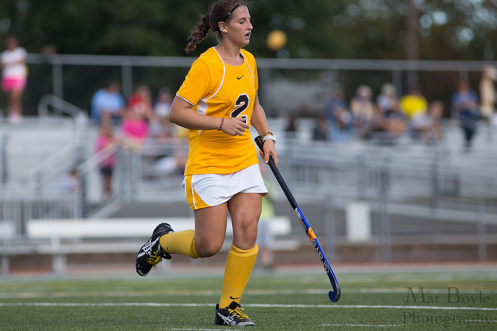 Rowan University Junior Forward Allison DiMenna (2);  Rowan University Field Hockey vs Neumann University at Coach Richard Wacker Stadium in Glassboro, NJ on Saturday September 28, 2013. (photo / Mat Boyle)