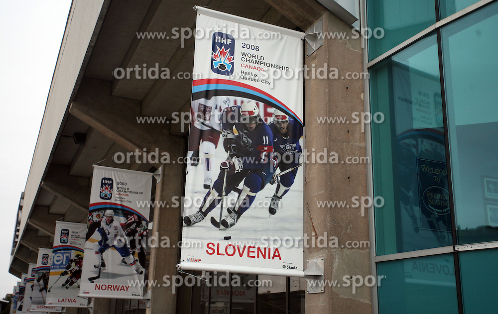 Posters on Metro Centre & World Trade & Convention Centre in Halifax. Metro Centre is Ice-Hockey Arena of IIHF World Championship 2008,  on May 01, 2008, Halifax, Canada.  (Photo by Vid Ponikvar / Sportal Images)