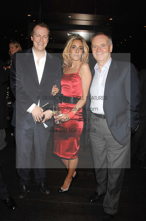 Left to right, TOM PARKER-BOWLES, TARA ARCHER and LORD ARCHER at the opening of Marco the new Marco Pierre White restaurant at Stamford Bridge, Fulham Road, London on 25th September 2007.<br />