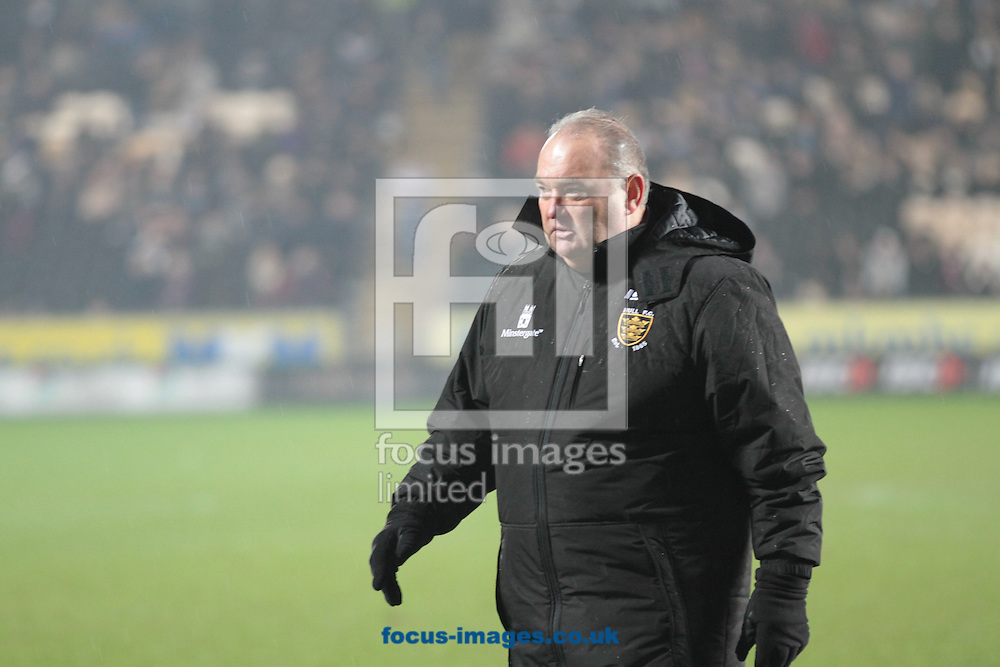 Picture by Richard Gould/Focus Images Ltd +447814 482222.15/03/2013.Shaun McRae of Hull Football Club comes on the field to check on one of his player during the Super League match at the KC Stadium, Kingston upon Hull.