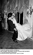 Lucinda West dancing with Olivier de Fallentons. James McMullen's 30th birthday. Clivenden. 24 October 1986. Film 86861f8<br />&copy; Copyright Photograph by Dafydd Jones<br />66 Stockwell Park Rd. London SW9 0DA<br />Tel 0171 733 0108