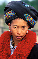 Laos, Muang Sing, Ethnie Mien ou Yao // Portrait of Yao minority woman, North, Lao People's Democratic Republic