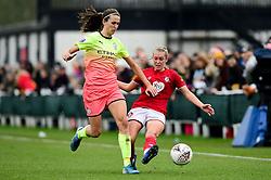 Flo Allen of Bristol City is challenged by Jill Scott of Manchester City Women  - Mandatory by-line: Ryan Hiscott/JMP - 24/11/2019 - FOOTBALL - Stoke Gifford Stadium - Bristol, England - Bristol City Women v Manchester City Women - Barclays FA Women's Super League
