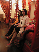 Daisy Lowe and Charlotte Cutler. Shanghai Tang opening. Sloane St. 11 April 2001. © Copyright Photograph by Dafydd Jones 66 Stockwell Park Rd. London SW9 0DA Tel 020 7733 0108 www.dafjones.com