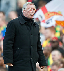 21.03.2010, Old Trafford, Manchester, ENG, PL, Manchester United vs Liverpool FC im Bild Manchester United's manager Alex Ferguson, EXPA Pictures © 2010, PhotoCredit: EXPA/ Propaganda/ D. Rawcliffe / SPORTIDA PHOTO AGENCY