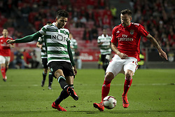 February 7, 2019 - Na - Lisbon, 06/02/2019 - SL Benfica received Sporting CP tonight at the Est√°dio da Luz stadium in the first leg of the Portuguese Cup 2018/19 semi-final. Tiago Ilori, Haris Seferovic  (Credit Image: © Atlantico Press via ZUMA Wire)