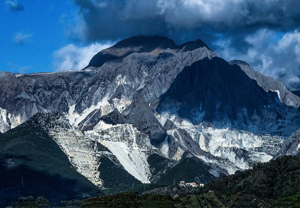 Carrara marble quarries, Tuscany, Italy.