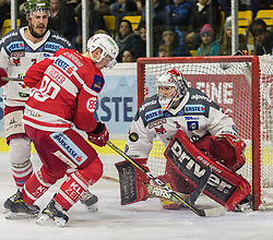 13.3.2018, Stadthalle, Klagenfurt, AUT, EBEL, EC KAC vs HCB Südtirol, 3. Viertelfinalspiel Playoff, im Bild Matt Clark (HCB-Südtirol Alperia, #7), Marco Bruckner (EC KAC, #89), Pekka Toukkola (HCB-Südtirol Alperia, #3) // during the Erste Bank Eishockey League 3rd Quaterfinal match between EC KAC vs HCB Südtirol at the City Hall in Klagenfurt, Austria on 2018/03/13. EXPA Pictures © 2018, PhotoCredit: EXPA/ Gert Steinthaler