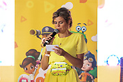 2019, August 25. Almere Strand, the Netherlands. Kim Kotter at the Nickelodeon Family Festival.