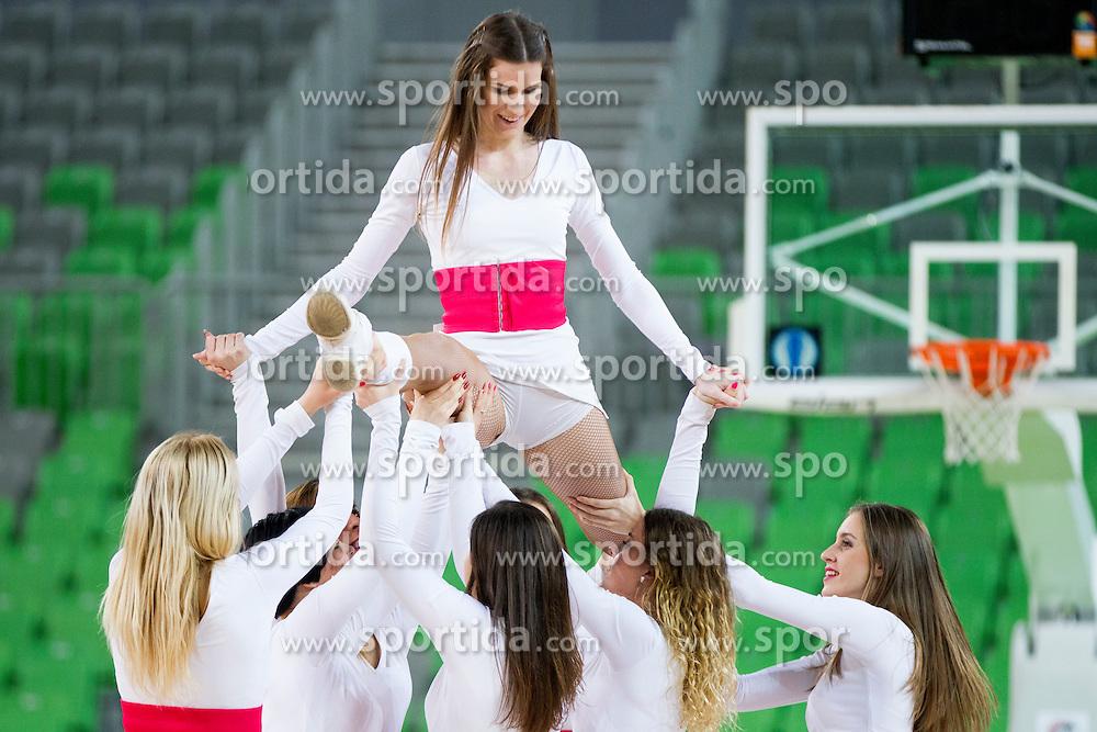 Dragon Ladies during basketball match between KK Union Olimpija Ljubljana and KK Tajfun in 22th Round of ABA League 2015/16, on January 30, 2016 in Arena Stozice, Ljubljana, Slovenia. Photo by Urban Urbanc / Sportida