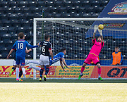 Dundee keeper Scott Bain makes a fantastic save to deny Kilmarnock&rsquo;s Greg Kiltie - Kilmarnock v Dundee in the Ladbrokes Scottish Premiership at Rugby Park, Kilmarnock, Photo: David Young<br /> <br />  - &copy; David Young - www.davidyoungphoto.co.uk - email: davidyoungphoto@gmail.com
