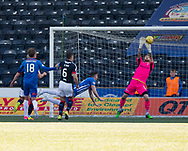 Dundee keeper Scott Bain makes a fantastic save to deny Kilmarnock&rsquo;s Greg Kiltie - Kilmarnock v Dundee in the Ladbrokes Scottish Premiership at Rugby Park, Kilmarnock, Photo: David Young<br /> <br />  - &copy; David Young - www.davidyoungphoto.co.uk - email: davidyoungphoto@gmail.com