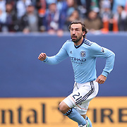 NEW YORK, NEW YORK - April 12:  Andrea Pirlo #21 of New York City FC in action during the New York City FC Vs San Jose Earthquakes regular season MLS game at Yankee Stadium on April 1, 2017 in New York City. (Photo by Tim Clayton/Corbis via Getty Images)