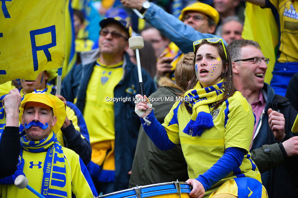 Supporters Clermont - 02.05.2015 - Clermont / Toulon - Finale European Champions Cup -Twickenham<br />