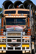 Truck on the Great Western Highway from Sydney to Adelaide, New South Wales, Australia