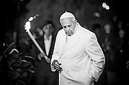 Rome april 3rd 2015, Holy Friday, pope leads Via Crucis (Way of the Cross) at Colosseum. In the picture pope Francis - © PIERPAOLO SCAVUZZO