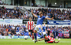 Luke Garbutt of Ipswich Town goes down under a challenge from Conor McLaughlin of Sunderland - Mandatory by-line: Arron Gent/JMP - 10/08/2019 - FOOTBALL - Portman Road - Ipswich, England - Ipswich Town v Sunderland - Sky Bet League One