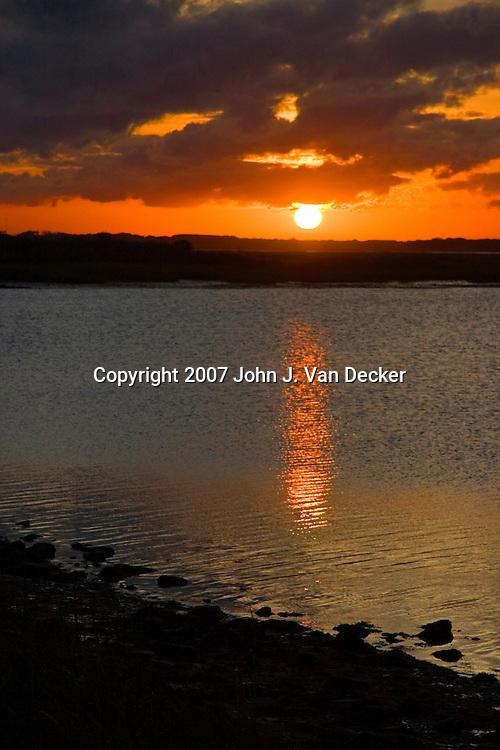 Sunset at Sunset Lake, Wildwood Crest, NJ, USA