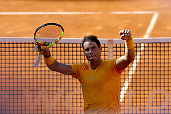 May 19, 2018 - Rome, Italy - Rafael Nadal (SPA) celebrates at Foro Italico in Rome, Italy during Tennis ATP Internazionali d'Italia BNL semi-final on May 19, 2018. (Credit Image: © Matteo Ciambelli/NurPhoto via ZUMA Press)