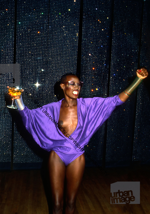 Grace Jones visits Studio 54 –  New York 1981