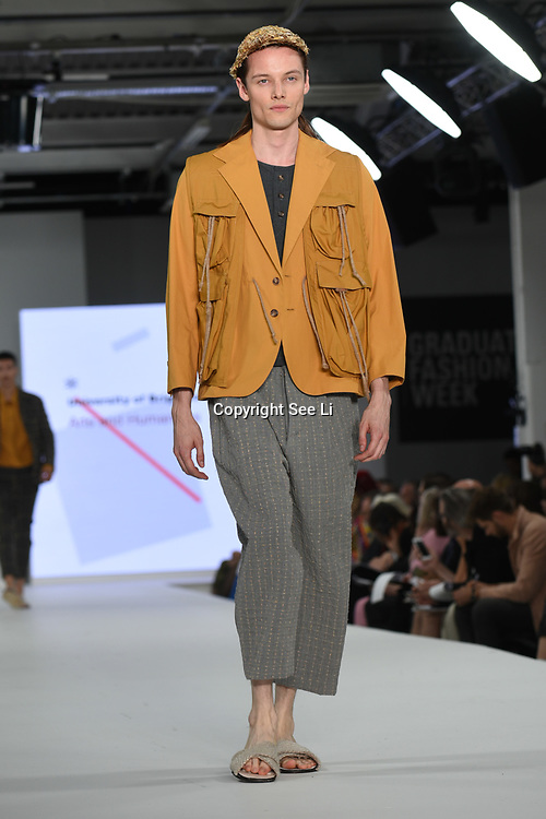 Designer Hannah Gibbins the Best of Graduate Fashion Week showcases at the Graduate Fashion Week 2018, June 6 2018 at Truman Brewery, London, UK.