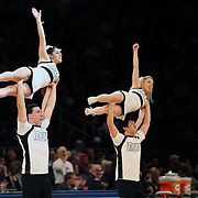 Providence cheer leaders in action during the Providence Vs St. John's Red Storm basketball game during the Big East Conference Tournament at Madison Square Garden, New York, USA. 12th March 2014. Photo Tim Clayton