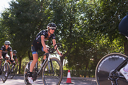 Emilia Fählin (SWE) of Wiggle High5 Cycling Team warms up for Stage 1 of the Madrid Challenge - a 12.6 km team time trial, starting and finishing in Boadille del Monte on September 15, 2018, in Madrid, Spain. (Photo by Balint Hamvas/Velofocus.com)