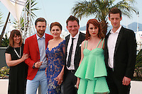 Producer Ankica Juric Tilic, actor Goran Markovic, actress Nives Ivankovic, director Dalibor Matanic,  actress Tihana Lazovic and  actor Dado Cosic at the Zvizdan (The High Sun) film photo call at the 68th Cannes Film Festival Sunday 17th May 2015, Cannes, France.