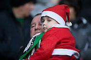 Christmas outfit for this wee fan at Celtic Park - Celtic v Dundee in the Ladbrokes Scottish Premiership at Celtic Park, Glasgow. Photo: David Young<br /> <br />  - &copy; David Young - www.davidyoungphoto.co.uk - email: davidyoungphoto@gmail.com