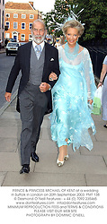 PRINCE & PRINCESS MICHAEL OF KENT at a wedding in Suffolk in London on 20th September 2003.PMT 138
